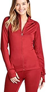 Women's Long Sleeve Zip up Athletic wear Sweater Work Out Gym Jacket