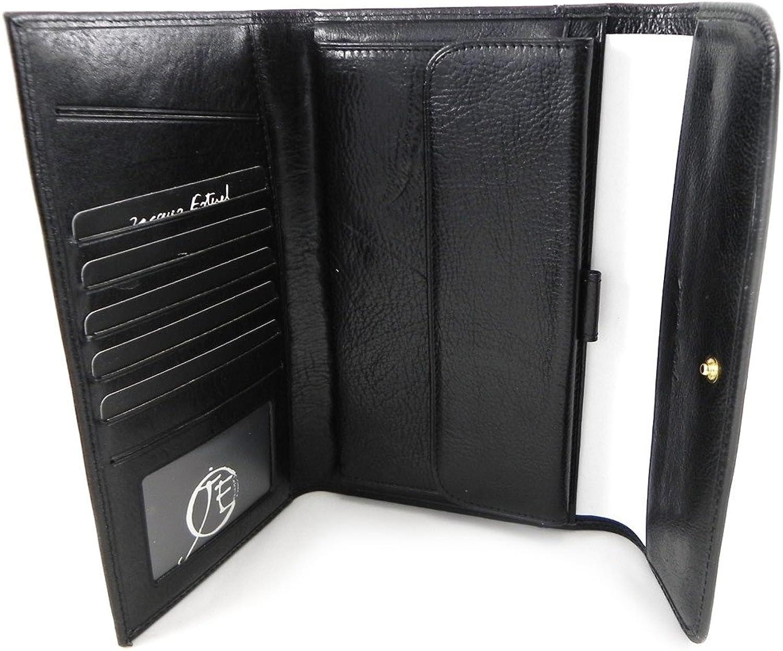 Wallet + checkbook holder (Jacques Esterelx) black.