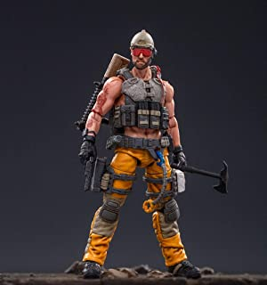 JoyToy 1/18 Soldier Action Figures 4-Inch Soldiers Anime Figure Dark Source Collection Action Figure Military Model Toys (Yellow)