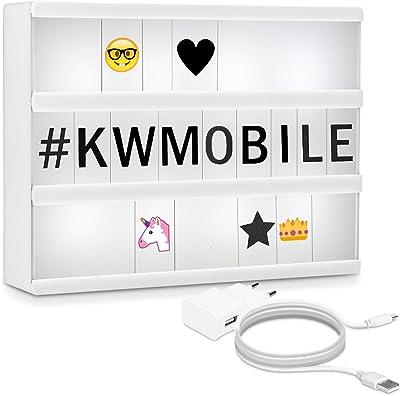kwmobile caja de luz cinematográfica A4 LED - lightbox con 378 ...