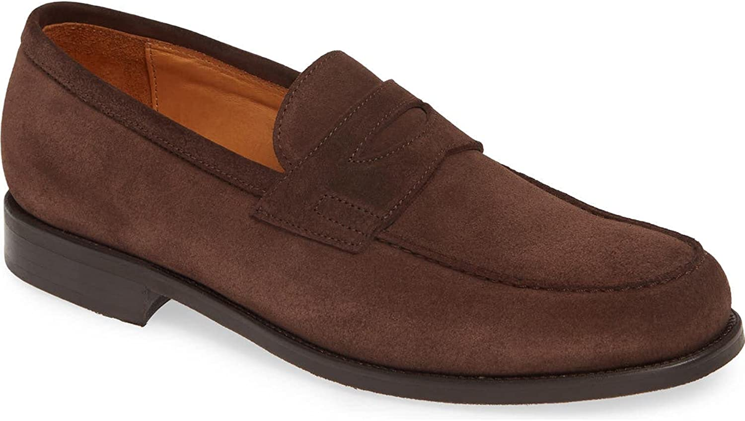 Jack Erwin Men's Brown Suede Carmine Penny Loafers