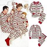 CXN Pijamas De Navidad Familiares Ropa De Dormir a Juego para Mujeres Hombres Niños Ropa De Dormir De Navidad Ropa De Hogar Niños de Seis años