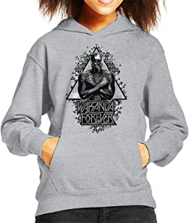 Marvel Black Panther Wakanda Forever Arm Cross Kid's Hooded Sweatshirt