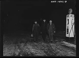 1943 Photo Clinton, Iowa. Train crew going to work early in the morning Location: Clinton, Clinton County, Iowa