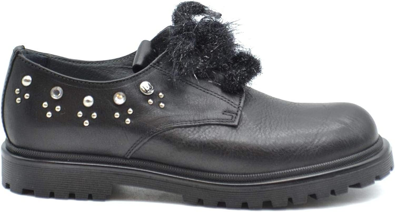 Liu Jo Women's MCBI37934 Black Leather Lace-Up shoes