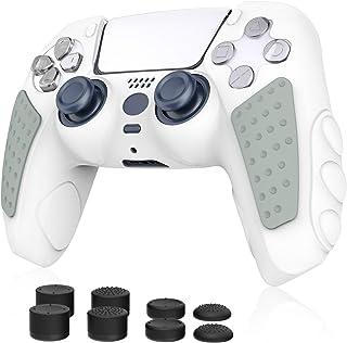 Simpeak Silikonskydd för PS5-kontroll, 8 st tillbehör antihalkskyddshölje skyddsfodral med tumgrepp kompatibel med Sony Pl...