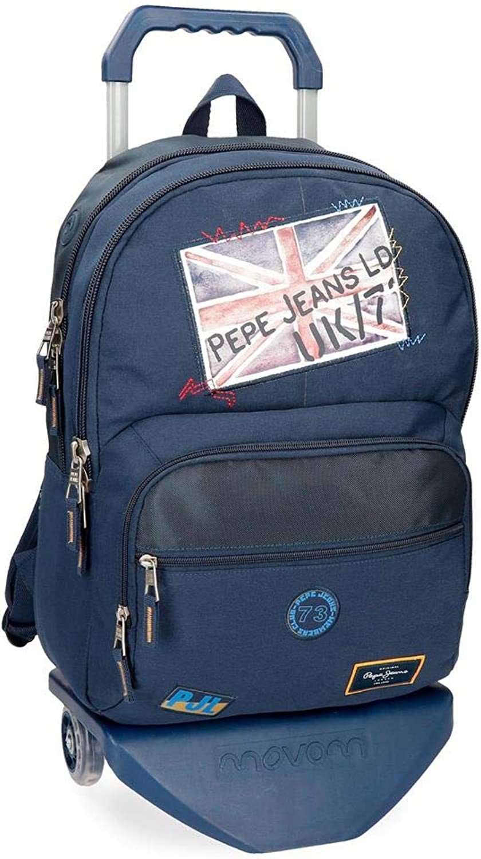 Pepe Jeans Scarf Schulrucksack, 45 cm, 21.6 liters, bluee (bluee)