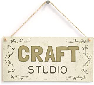 in the Ivy Craft Studio Beautiful Wood Hanging Sign Wall Door Plaque Sign Gifts