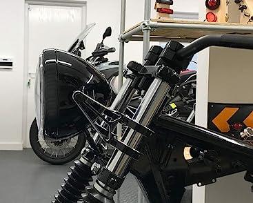 Retro Motorrad Scheinwerfer 7 5 55w Mit Slim Led Halo Schwarz Homologated Auto
