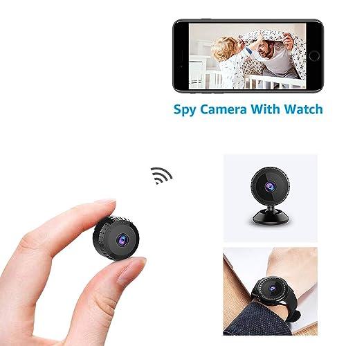 Cámara Espía Oculta AOBO 1080P HD Mini WiFi Cámara Portátil Interior/Hogar Cámara IP de