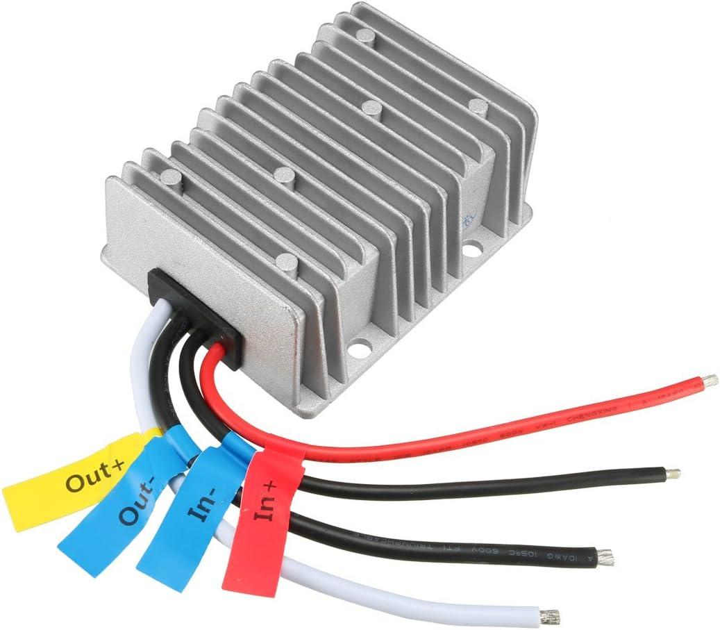 uxcell New BIG-Size Voltage Converter Regulator DC/DC DC 24V to DC 12V 40A 480W Buck Transformer Waterproof