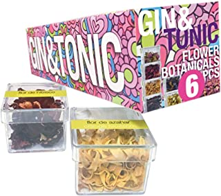 Gin Tonic gifts, Flower Botanicals, Fresh Flowers to Garnish your cocktail, ideal as a gift set for Christmas