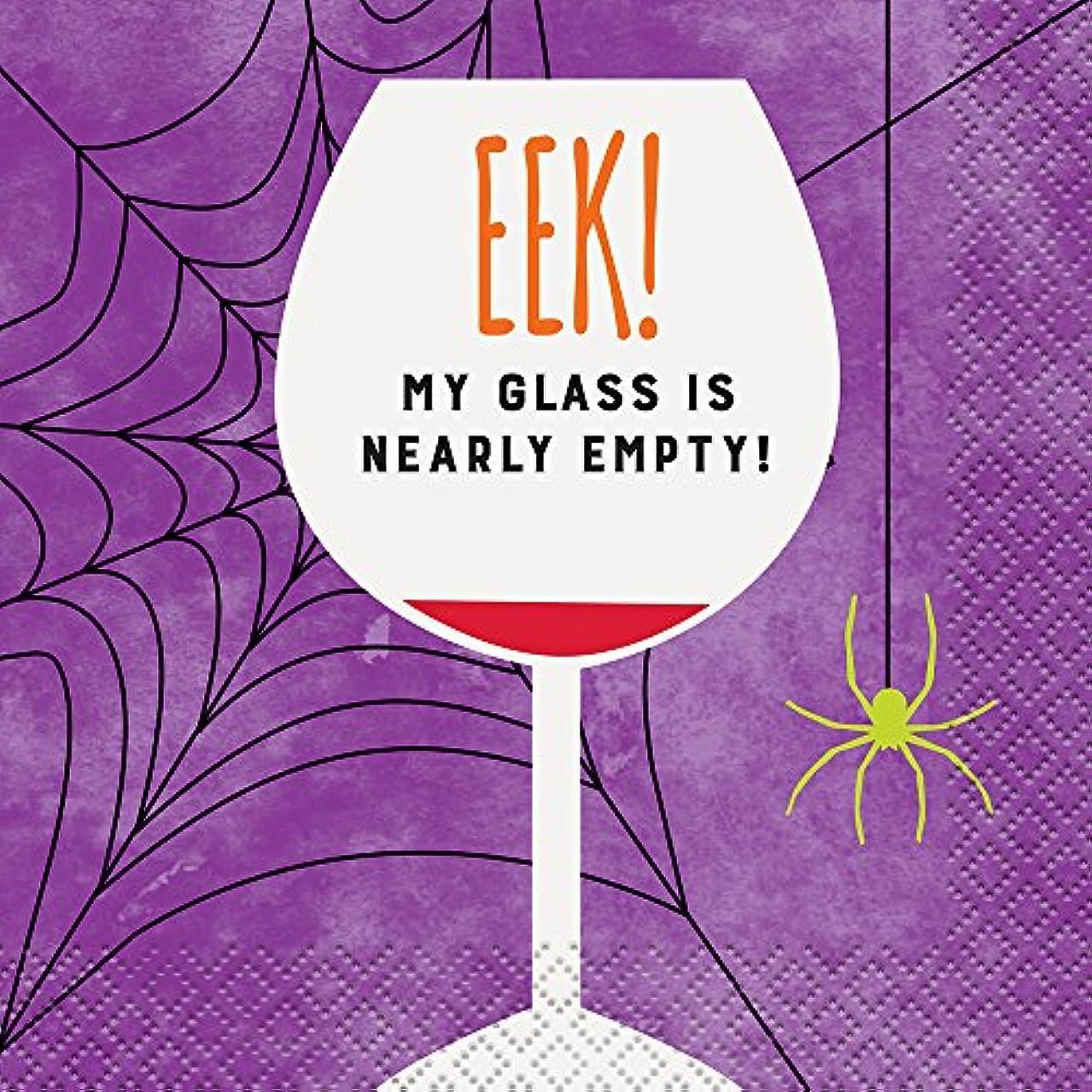 Eek Empty Glass Halloween Cocktail Napkins, 16ct