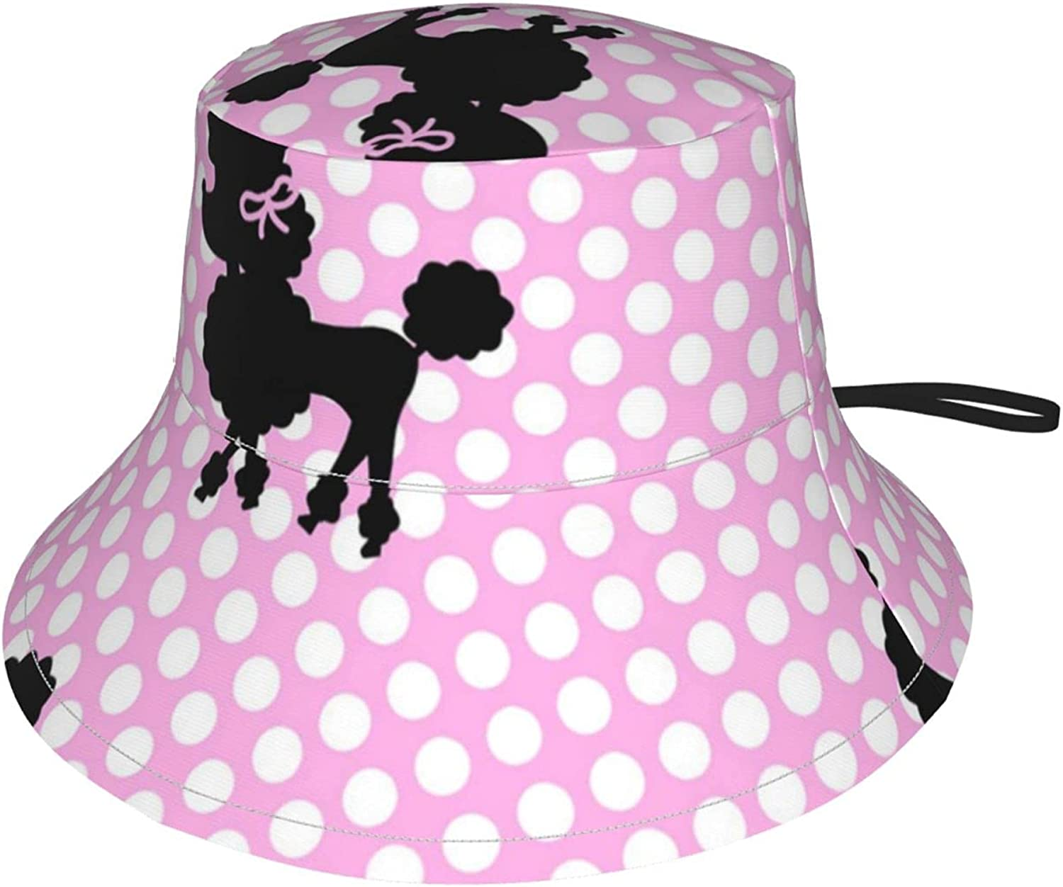 Pink Free Shipping New Poodle Kids Sun Directly managed store Breathable Bucket Adjustable Hat
