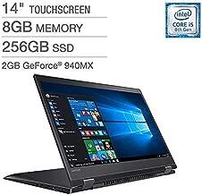 2018 Lenovo Flex 5 14' IPS TouchScreen FHD (1920x1080) 2-IN-1 Laptop (Intel Quad Core i5-8250U, 256GB PCIe SSD, 8GB DDR4, NVIDIA 940MX, Backlit, Type-C, FingerPrint, Windows 10 (Renewed)