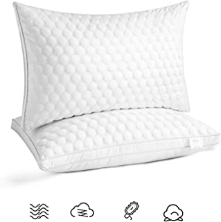 LMIKAF Bed Pillows for Sleeping(2-Pack) Luxury Hotel Collection Gel Pillow for Side Back and Stomach Sleeper- Queen Size