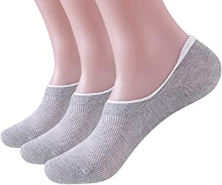 CozyWow No Show Socks Non Slip Cotton Casual Socks for Women & Men 3Pairs