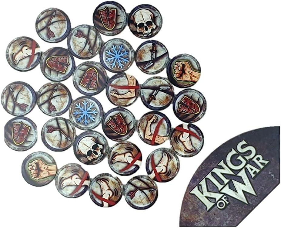 Great interest Kings of War Branded goods Game Token Arc - Set MGKWM108 Template