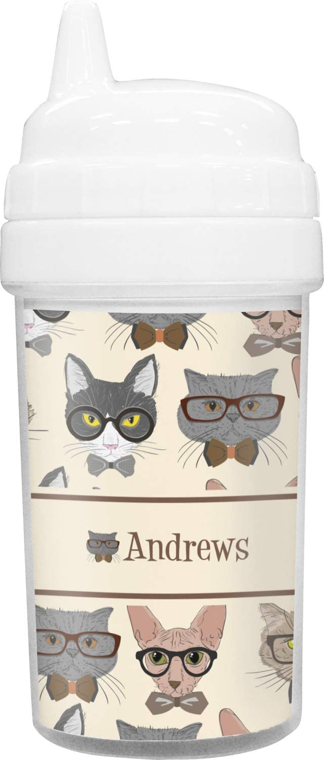 Hipster Sale Special Price Cats Translated Toddler Sippy Cup Personalized