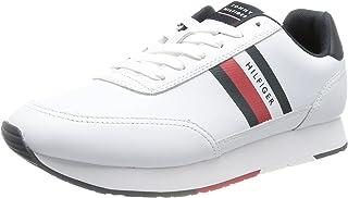 Tommy Hilfiger Herren Essential Runner Stripes Leather Sneaker