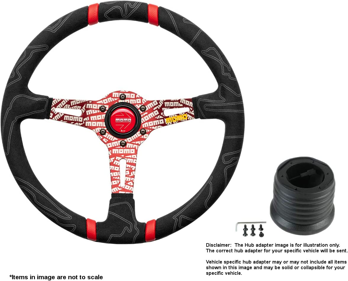 Safety and trust MOMO Ultra Red 350mm Ranking TOP14 13.78 Inches Steering w M Wheel Alcantara