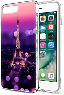 Yoedge Case for iPhone 7/iPhone 8, Phone Case Transparent Clear with Pattern [Ultra Slim] Shockproof Soft Gel TPU Silicone Back Cover Bumper Skin forApple iPhone 6/6s (Eiffel Tower)