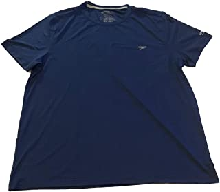 Speedo Men's UPF 50+ Quick Dry 4-Way Stretch Short Sleeve Swim Tee