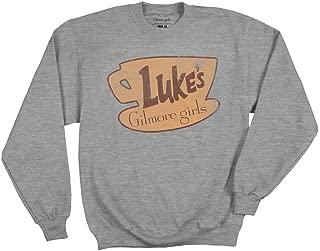 Ripple Junction Gilmore Girls Adult Unisex Vintage Luke's Coffee Logo Fleece Crew Sweatshirt