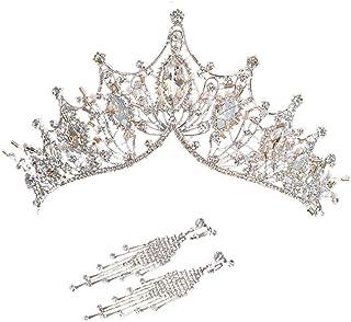 YNYA Tiare Sposa Crown Crown Baroque Princess Crown Orecchini da Sposa Accessori Abito da Sposa Regali di Nozze