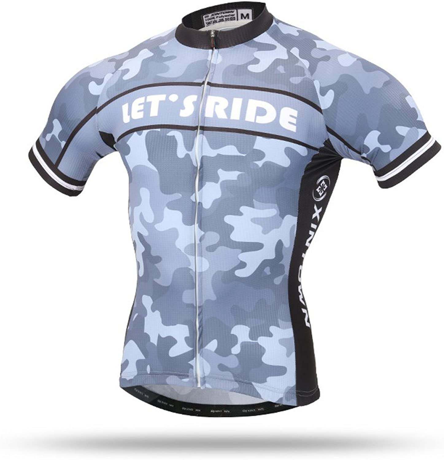 Pinjeer 2018 Summer Sky Camouflage Design Men's Breathable Outdoors Sports Cycling Jersey Clothing,Quick Dry Team Bike Jersey Men Short Sleeve Shirt (Size   M)