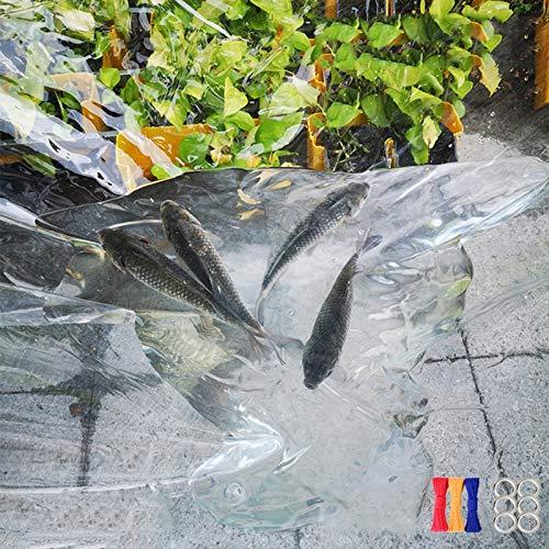 YUDEYU Transparente Lona alquitranada Impermeable Patio Cubierta Vegetal A Prueba de Viento Paño de Lluvia linóleo 450 g/m² (Color : Claro, Size : 300x500cm)