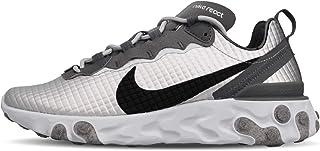 Nike React Element 55 Premium Sneakers Argento Nero Bianco CI3835-001 (41 - Argento)