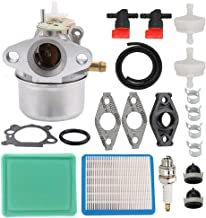 Coolwind 799869 Carburetor + Tune Up Kit Air Filter Fuel Valve fit Briggs and Stratton 499059 792253 497586 491588 491435S 694395