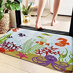 1: Bath Mat Size: 60 Cm x 100 Cm 2: Non slip: Innovated PVC material is used on the back to prevent shifting and skidding. Also, it will keep the water from spilling onto the floor. For best non-slip performance, please do not put it on wet floor. 3:...