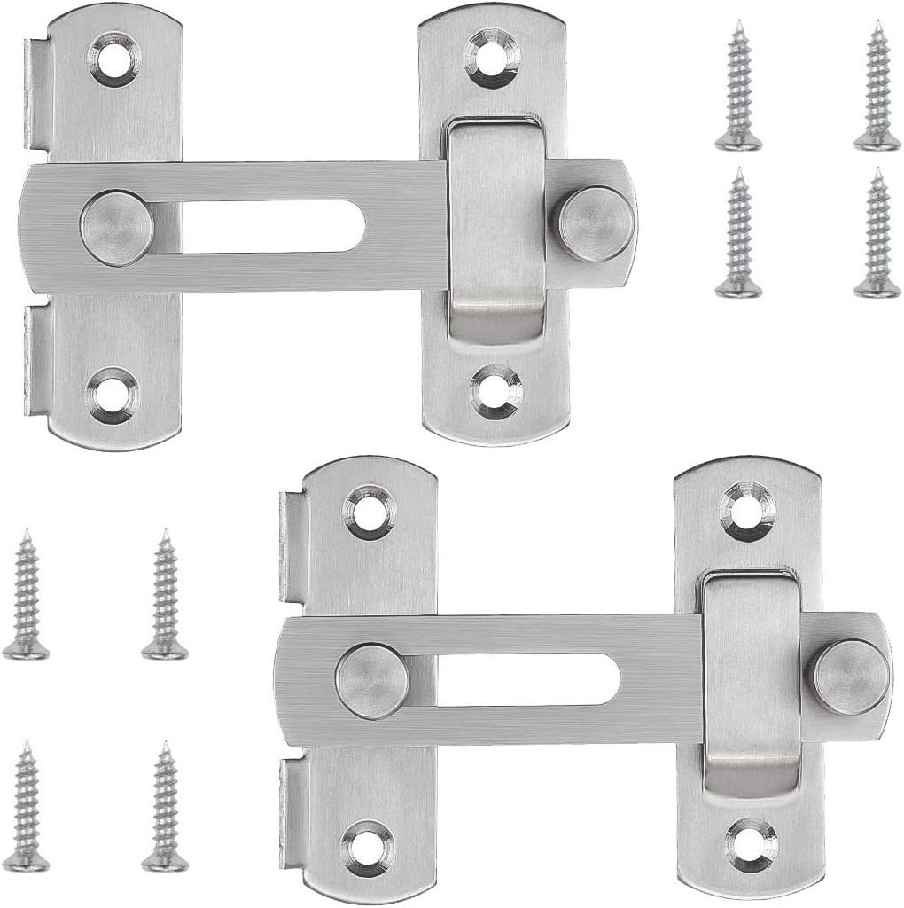 2 Pcs Popular overseas Stainless Steel Flip Latch Bar Gate D New Shipping Free Latches Safety