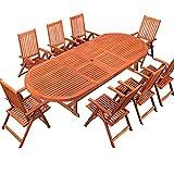 LD Sitzgruppe Sitzgarnitur Holz Gartengarnitur Gartenmöbel Gartentisch Tisch