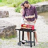 Zoom IMG-1 tectake bbq grill con carrello