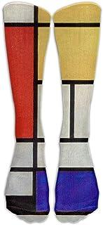 Meius, Estilo Unisex Calcetines Casual Hasta la Rodilla Medias De Lujo Mondrian Calcetines De Algodón Un Tamaño
