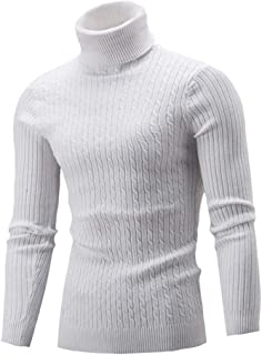 AngelSpace Mens Casual Loose Knit Fall Classic Baggy Soft Sweater Pullover