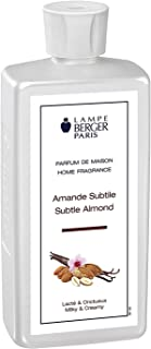 Subtle Almond   Lampe Berger Fragrance Refill for Home Fragrance Oil Diffuser   Purifying and perfuming Your Home   16.9 Fluid Ounces - 500 millimeters   Made in France