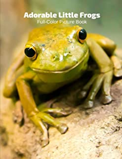 Adorable Frogs Full-Color Picture Book: Toads Picture Book for Children, Seniors and Alzheimer's Patients -Amphibians Wild...
