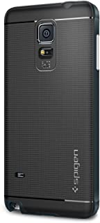 Spigen Neo Hybrid Galaxy Note 4 Case with Flexible Inner Protection and Reinforced Hard Bumper Frame for Samsung Galaxy Note 4 2014 - Metal Slate