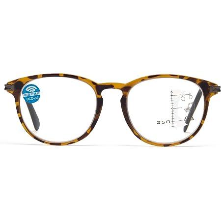 JIMMY ORANGE老眼鏡 累進多焦点 遠近両用 超軽量 使いやすい おしゃれ老眼鏡 ブルーライトカット オシャレ リーディンググラス ケース付き 遠近両用メガネ L3351001