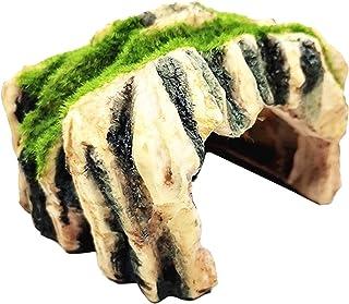 FLAMEER Nowość sztuczny żółw gadów kryje żywica materiał jaskinia akwarium ornament Aqurium podwodna terrarium rzeźba kraj...