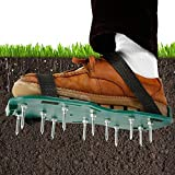 Aérateur de cesped chaussures pour aérer le gazon scarificateur manuel réglable rallonge taille universelle pour gazon/jardin/jardin