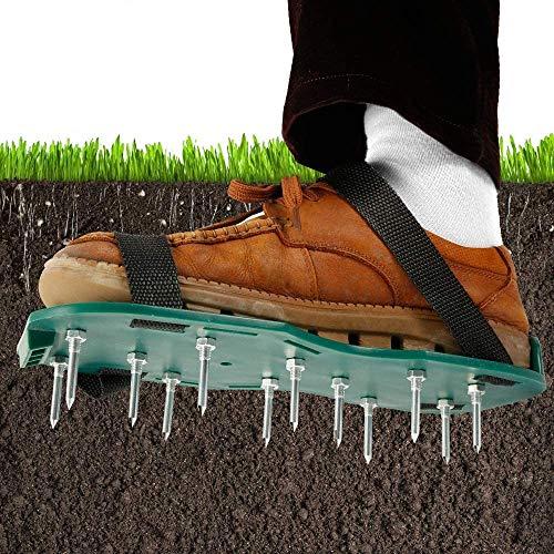 Aireador de Cesped Zapatos para Airear el Césped Escarificador Manual Ajustables Alargadas Tamaño Universal para Césped/Jardín/Jardinería