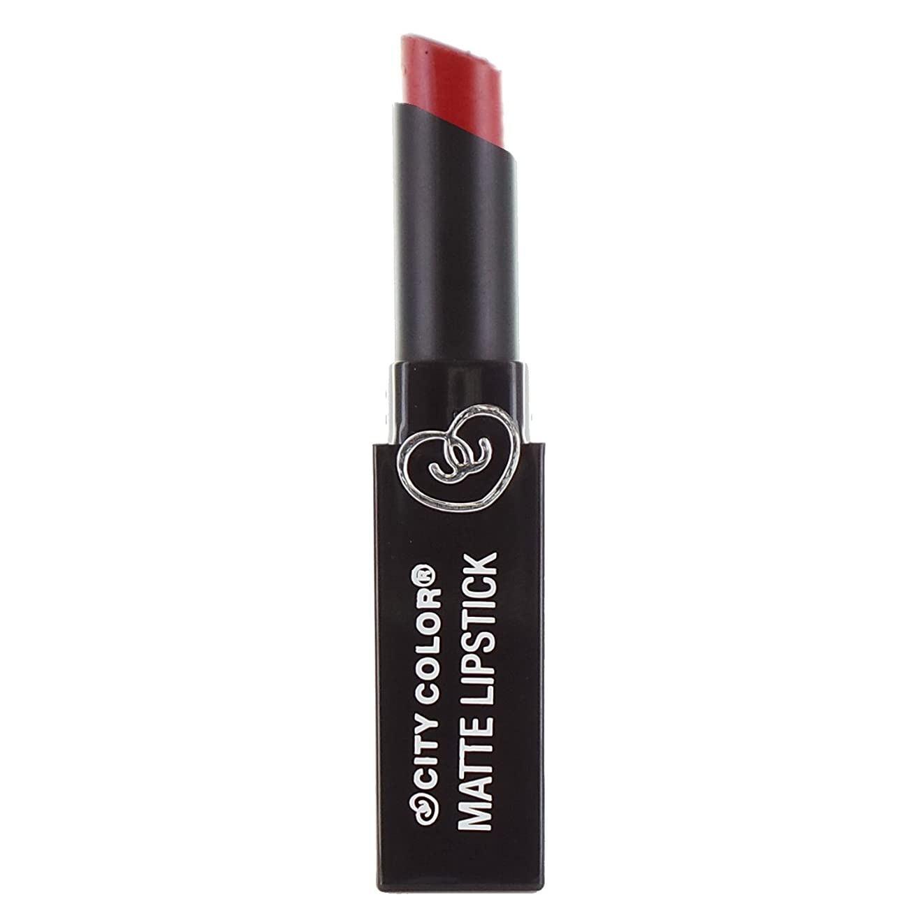 大臣昼食対話(3 Pack) CITY COLOR Matte Lipstick L0050 - Red (並行輸入品)