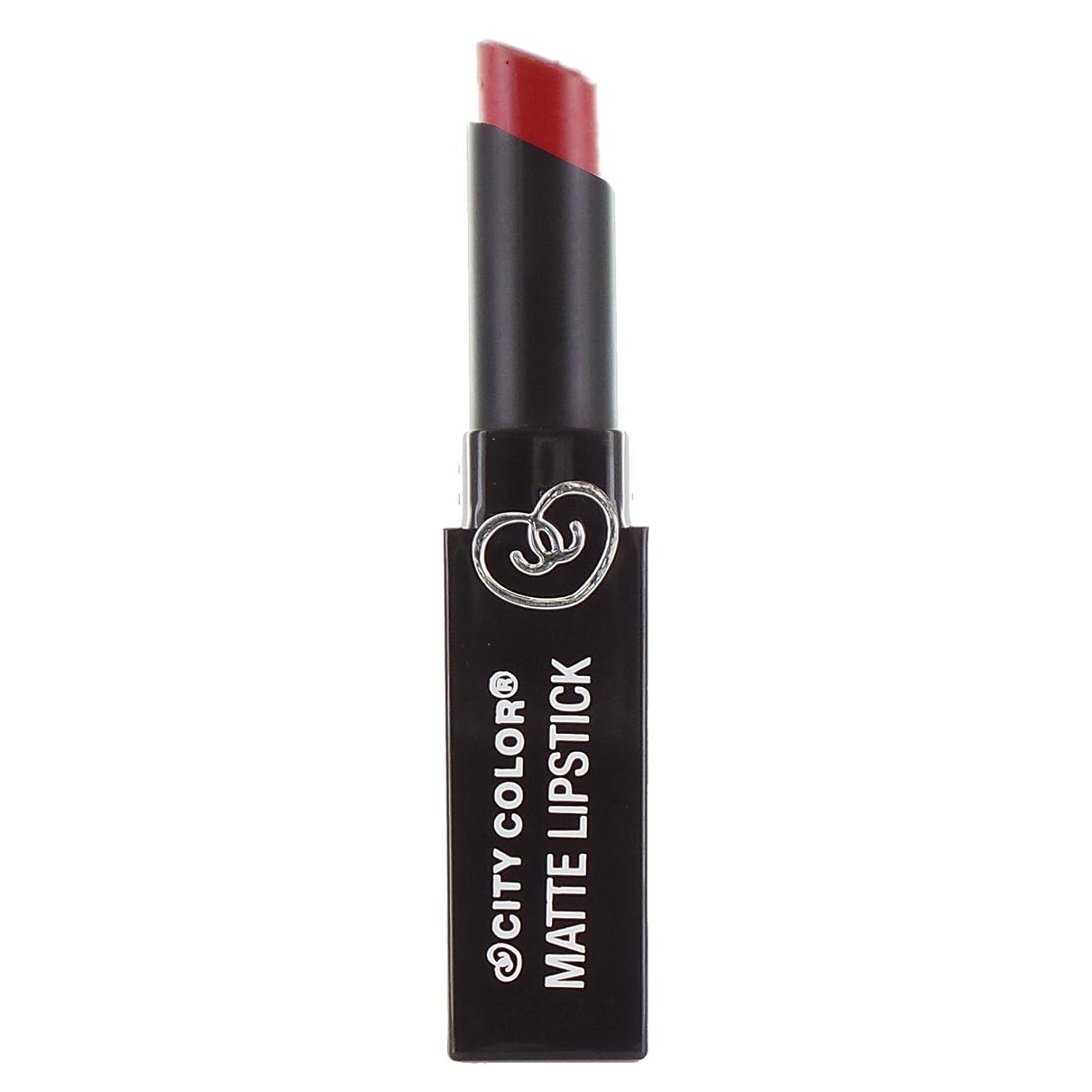 紛争分解する非アクティブ(3 Pack) CITY COLOR Matte Lipstick L0050 - Red (並行輸入品)