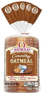 Oroweat Sliced Bread 16oz - 24oz Loaf (Pack of 2) Choose Flavor Below (Country - Oatmeal - 24oz)