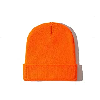 MZHHAOAN Men's and Women's Solid Color Beanie Autumn Winter Hat Blend Soft Warm Knit Cap Unisex Cap Knit Cap Girl Boy Ski